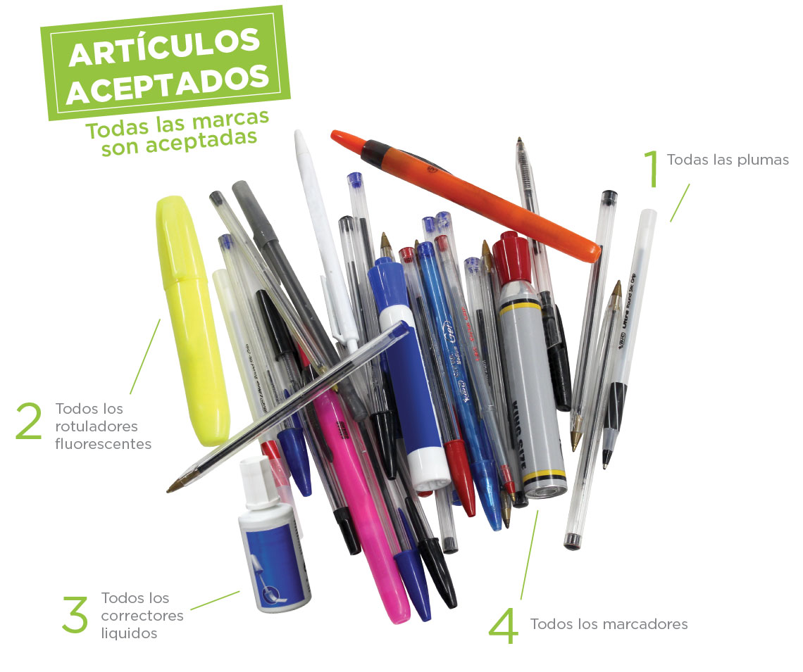 writing instrument bic accepted waste Spain